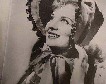 ChristmasinJuly Vintage 50s Misses Blue Bonnet Sunbonnet Prairie Bonnet Sewing Pattern One Size