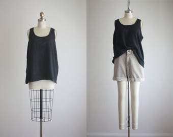 ash black cotton tank