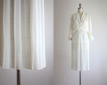 sheer pleat skirt