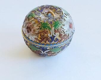Antique Apple Box Cloisonne Fine Arts