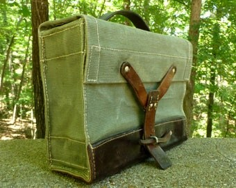 Vintage Swiss Military Bag,  Swiss amunition bag - iPad perfect