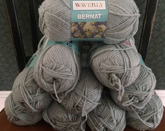 lot of 10 Bernat Waverly soft worsted category 4 yarn BREATH OF BLUE 3.5 ounces 197 yards acrylic skein knitting crochet discontinued new