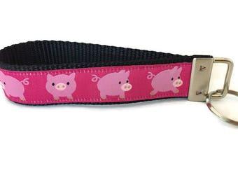 Pigs Keychain, Key fob, Wristlet