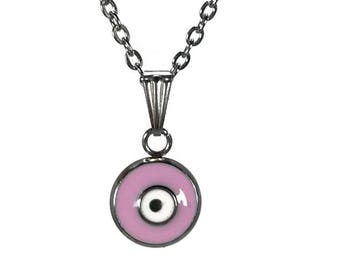 Evil eye necklace  - handmade jewelry - stainless steel - protection - Greek jewelry - Gift for her