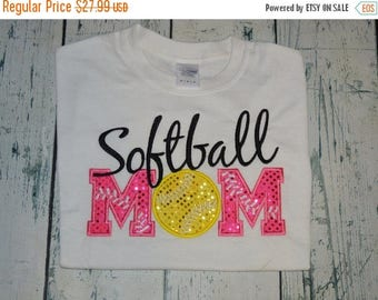 ON SALE Softball Mom Shirt - Personalized ladies tee shirt