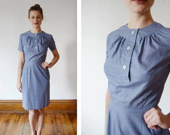 60s The Villager Blue Dress - XS