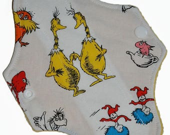 Liner Core- Seuss Scramble Reusable Cloth Mini Pad- 7.5 Inches (19 cm)