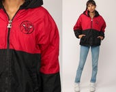 Chicago Bulls Jacket STARTER Basketball HOODIE Jacket 90s Streetwear Coat Hood NBA Hooded Vintage Zip Up Medium