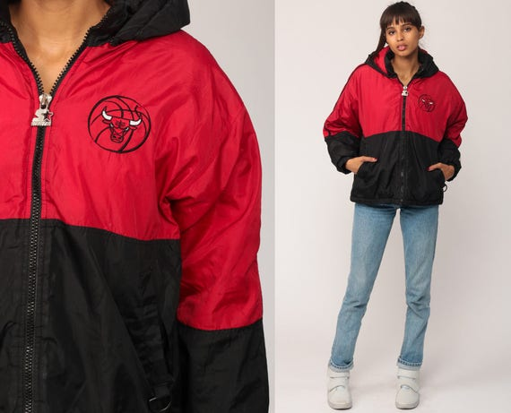 chicago bulls jacket starter basketball hoodie jacket 90s up
