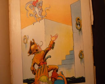 Greetings  Pirates of Oz John R Neill illustrator Pirate print - Wizard of Oz L Frank Baum color lithograph - 1931 - Nursery print framable