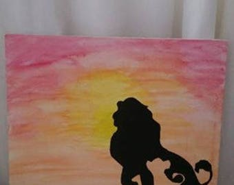 painted lion king  picture