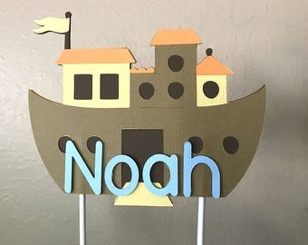 Noahs Ark Cake Topper, Noahs Ark Baby Shower, Noahs Ark Birthday Party, Noahs Ark Smash Cake Topper, Noahs Ark 1st Birthday, Cake Topper