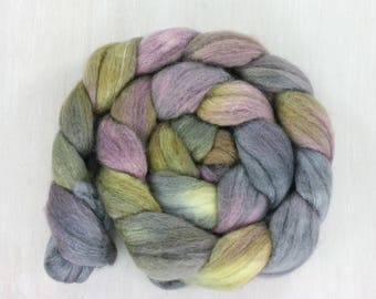 BFL/SILK Handpainted Roving Combed Top :Wander