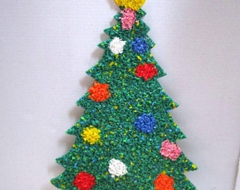 Vintage Christmas Melted Plastic Popcorn,  Christmas Tree, Indoor / Outdoor Wall / Window Decor, Holiday Fun, Boomers, Ornaments Star, Large