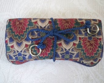 Vintage Jewelry Storage Travel Fabric Roll Case