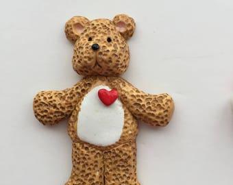 New for 2017... personalized original teddy bear Christmas ornament, bear ornament,