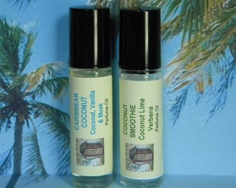 Coconut Perfume Oil, Coconut Cologne Oil, Coconut Lime Verbena Perfume Oil, Coconut Lime Verbena Cologne Oil,  Natural Cologne, Toasted Goat