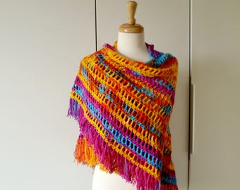 Bright and Colorful Shawl