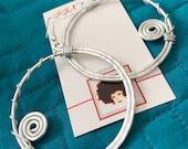 HOOPLAH: Bangin Beauties hammered aluminum wire earrings