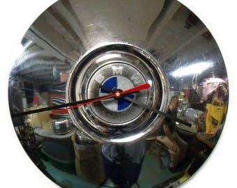 1962 - 1971 BMW Hubcap Wall Clock - 1502 1600 1602 Hub Cap - 1963 1964 1965 1966 1967 1968 1969 1970 - Man Cave Automotive Decor