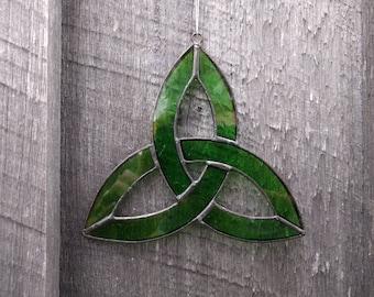 Stained Glass Celtic Trinity Knot Sun Catcher