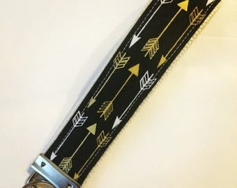 On Sale One Key Fob Wristlet - Gilded Arrows