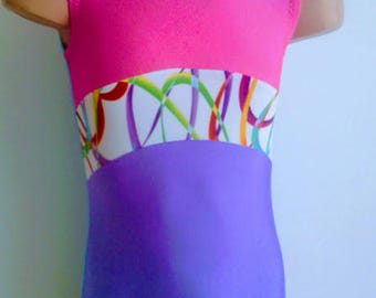 Gymnastic Dance Leotard. Toddlers Girls  Gymnastics Leotard. Performance Leotard.   Sizes 2T - GIRLS 12