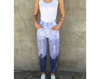 Vintage 1990's ombré tie-dyed high waisted pants w.27