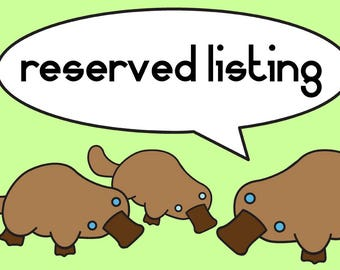 Reserved listing for zbhorse