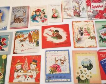 Vintage Lot 15 Christmas Cards Pop Ups  3D