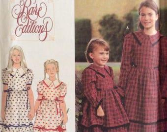 Simplicity 9836, Uncut Sewing Pattern, Girls Dress, Rare Editions, Size 7 - 12, 1995