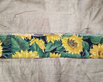 Vintage Ribbon. Sunflower Ribbon. Vintage Wire Ribbon. Yellow green Ribbon. 1970s Ribbon. Vintage Trim.  Vintage Supplies. Vintage Sew