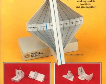 Sundials and Timedials Working Models to Cut Out and Glue Together Solar Compass Time Cylinder Polar Sundial Nocturnal Craft Pattern Book