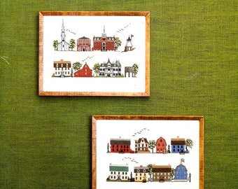 Streets of Newport Trinity Church Brick Market Old Colony House Castle Hill Light Counted Cross Stitch Embroidery Craft Pattern Leaflet