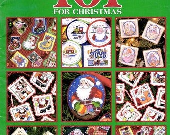 101 Ornament Christmas Santa Claus Bell Nativity Gingerbread Cottage Counted Cross Stitch Embroidery Craft Pattern Leaflet Leisure Arts 3016