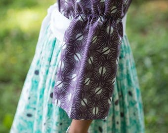Bliss twirl peasant dress and sash, sizes 6mos.-10 girls