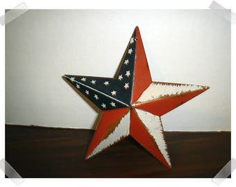 "Metal Star Wall Decoration/ Patriotic USA/ 5 half"" / Home Decor/ Supplies*"