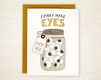 Anniversary Card, Love Card - Eyes for You