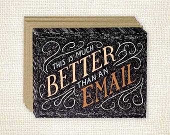 Boxed Card Set of 8 - Better Than An Email