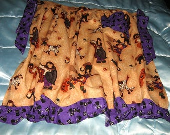 JKW Halloween Spiders Dogs Owls JOL Black CATs Witch Half APRON with Pocket