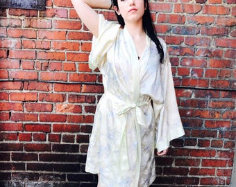 Vintage Yellow and Blue Traditional Robe