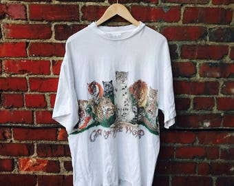 Vintage Cats of The World Shirt XL