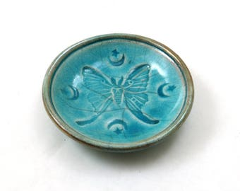 Luna Moth Bowl Handmade ceramic Pottery