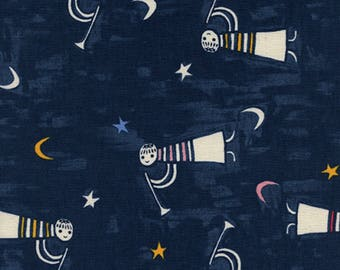 Cotton + Steel - Noel Collection - Angels Singing in Navy