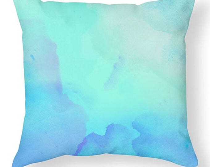 Watercolor Throw Pillow, Bedroom Pillow, art pillows, bedroom pillow, modern room decor, grad gift, dorm decor, watercolor  room decor