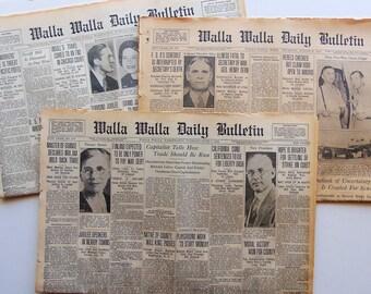 ONE Vintage 1920 Newspaper
