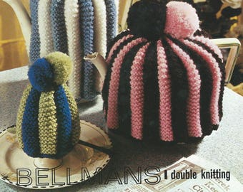 Vintage Knitting Pattern Tea and Egg cosies , Vintage Novelty Knitting Pattern , PDf Instant download