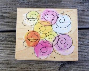 Hero Arts Wood Mounted Rubber Stamp Fancy Swirls