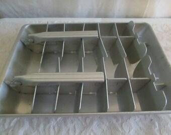 Double Ice Cube Tray Quick Kube  Cube Aluminum tray craft