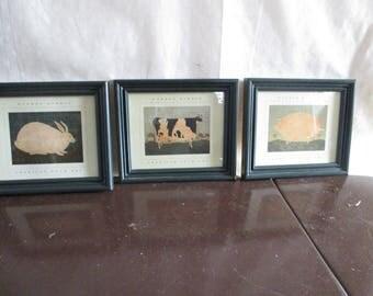 Warren Kimble American Folk Art Set of 3